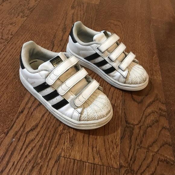 Adidas Superstar toddler white Velcro sneaker